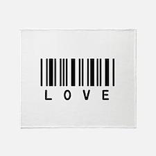 Love Barcode Throw Blanket