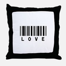 Love Barcode Throw Pillow