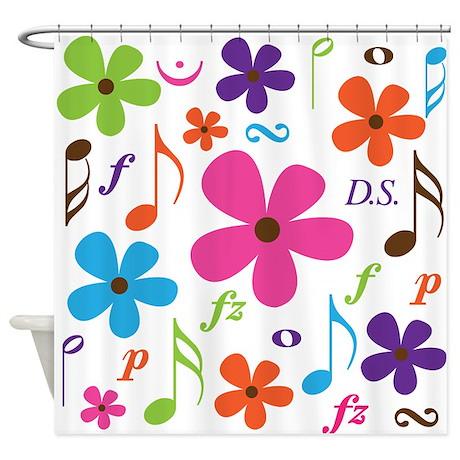Choir or Band Music Gift Shower Curtain