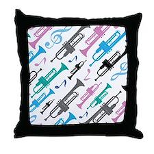 Fun Trumpet Music Gift Throw Pillow