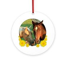 Horse pals Ornament (Round)
