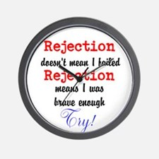 Brave Rejection! Wall Clock