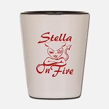 Stella On Fire Shot Glass