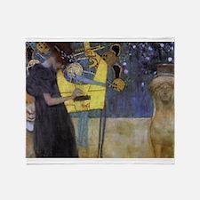 Gustav Klimt Music Throw Blanket
