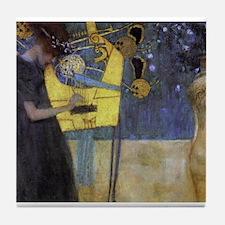 Gustav Klimt Music Tile Coaster