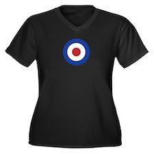 RAF Roundel Women's Plus Size V-Neck Dark T-Shirt
