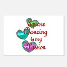 Square Dancing Passion Postcards (Package of 8)