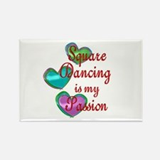 Square Dancing Passion Rectangle Magnet