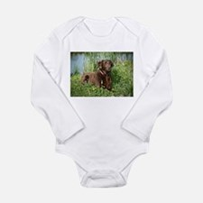 Waiting for Action Long Sleeve Infant Bodysuit