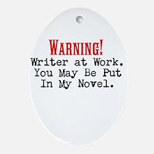A Novel Threat Ornament (Oval)