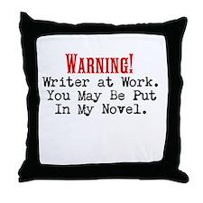 A Novel Threat Throw Pillow