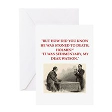 holmes joke Greeting Card