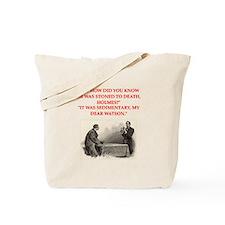 holmes joke Tote Bag