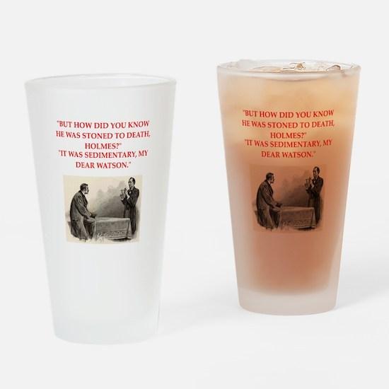 holmes joke Drinking Glass