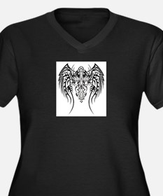 tattoo17 Women's Plus Size V-Neck Dark T-Shirt