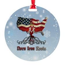 Northern Irish American Christmas Ornament