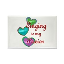 Singing Passion Rectangle Magnet