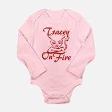Tracey On Fire Long Sleeve Infant Bodysuit