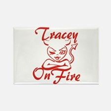Tracey On Fire Rectangle Magnet