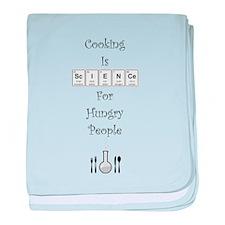Cooking Is Science baby blanket
