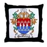 MacOstrich Coat of Arms Throw Pillow