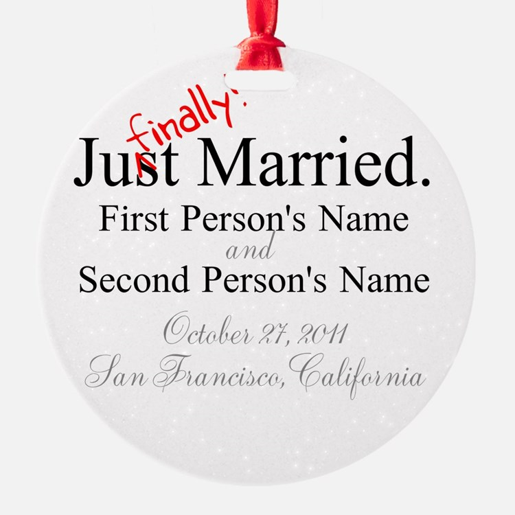 Finally Married Ornament