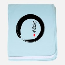 "Enso Open Circle with ""Artist"" Calligraphy baby bl"