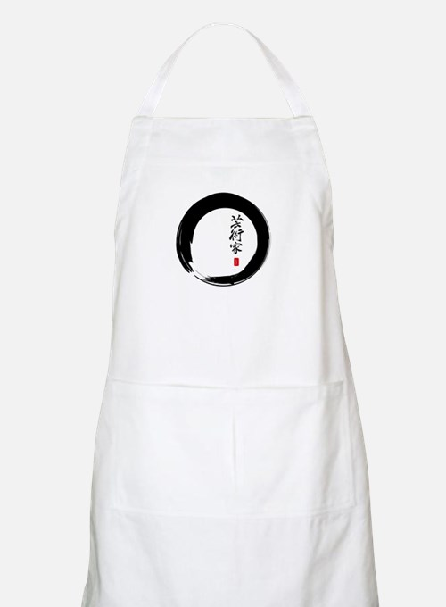 "Enso Open Circle with ""Artist"" Calligraphy Apron"