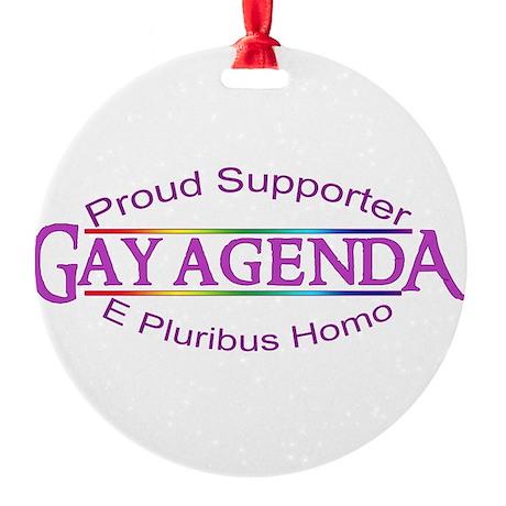 Gay Agenda Round Ornament