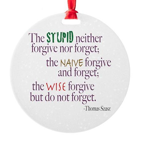 Forgive Round Ornament