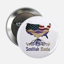 """American Scottish Roots 2.25"""" Button"""