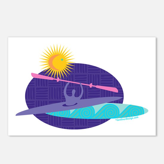 Unique Kayak Postcards (Package of 8)