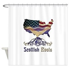 American Scottish Roots Shower Curtain