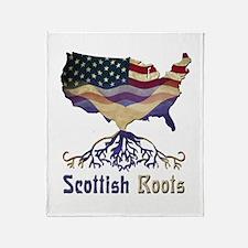 American Scottish Roots Throw Blanket