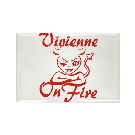 Vivienne On Fire Rectangle Magnet