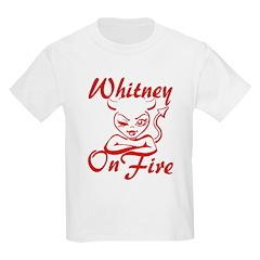 Whitney On Fire Kids Light T-Shirt