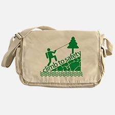 Don't Panic Climb to Safety Messenger Bag