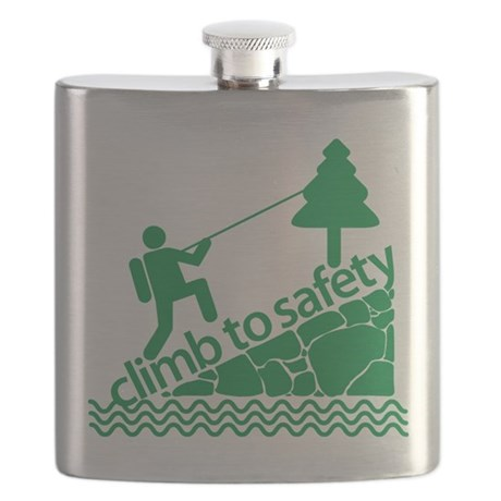 Don't Panic, Climb to Safety Flask