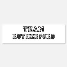 Team Rutherford Bumper Bumper Bumper Sticker