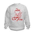 Zoe On Fire Kids Sweatshirt