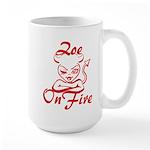 Zoe On Fire Large Mug
