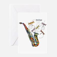 Wild Saxophone Greeting Card