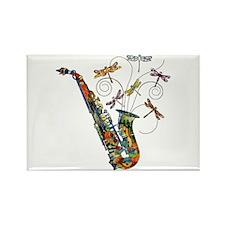 Wild Saxophone Rectangle Magnet