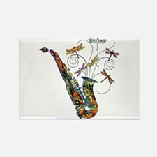 Wild Saxophone Rectangle Magnet