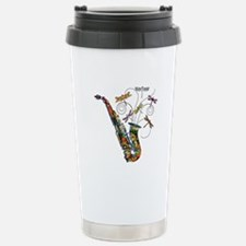 Wild Saxophone Stainless Steel Travel Mug