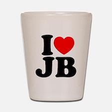 I LOVE JB Shot Glass