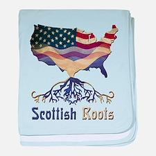 American Scottish Roots baby blanket