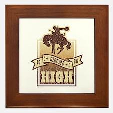 Ride Me High Framed Tile