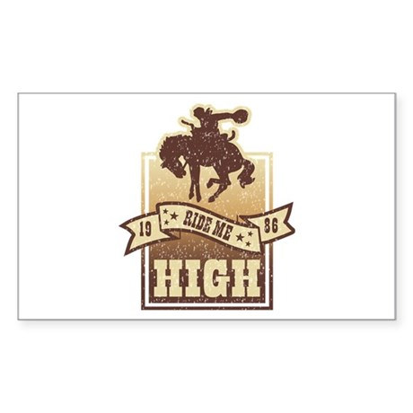 Ride Me High Sticker (Rectangle)