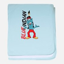 Blue Indian baby blanket